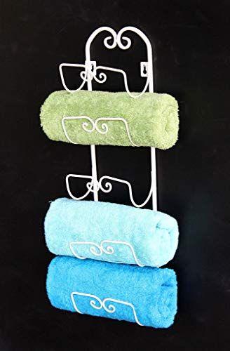Dandibo 081220 Wall Mounted Towel Rail Antique White Vintage Wall Towel Holder Bat In 2020 Handtuchhalter Wand Handtuchhalter Badezimmer Handtuchhalter Bad Ohne Bohren