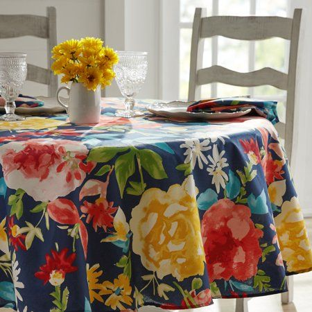 The Pioneer Woman Fiona Floral Tablecloth 70 Round Multiple Sizes Available Walmart Com Pioneer Woman Kitchen Floral Tablecloth Pioneer Woman Dishes