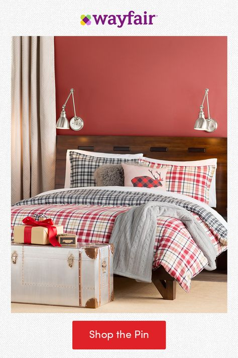 Spread cheer with holiday home decor in every room! Add a festive flair to your bedroom with a plaid comforter, cable-knit throws, and buffalo-check pillows. From the holidays to every day, find everything home with fast and FREE shipping at Wayfair.