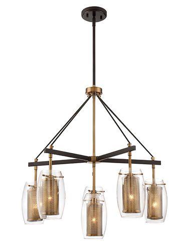 6 Light Brass Chandelier At Menards Chandelier Lighting