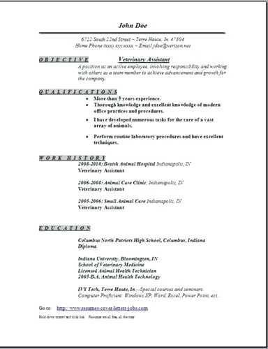 Resume Templates Veterinary Assistant Resume Templates Medical Assistant Resume Resume Examples Good Resume Examples