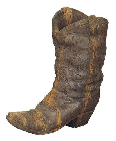 Solid Rock Stoneworks Western Cowboy Boot Planter 21in Tall Rust Color Read More Reviews Of The Product By Vis Western Cowboy Boots Cowboy Boots Garden Boots