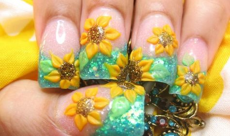22 ideas flowers design nails acrylic