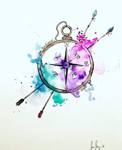 Nations Compass by ShePaintsVirtue on Etsy