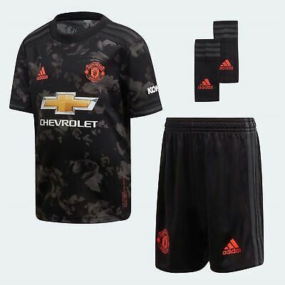 Ad Ebay Link Adidas Manchester United Third Mini Kit 2019 2020 Childs Black Football Soccer In 2020 Mini Footballs Black Adidas Manchester United