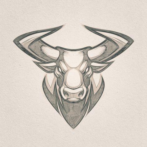 "Absorb81 // Craig Patterson's Instagram post: ""Mascot Design // Client W.I.P. #Bull #Mascot #Mascotdesign #Taurus #Zodiac #Designer #CaliberBlack #Absorb81 #Art #Absorb81 #Horns #Sketch…"""