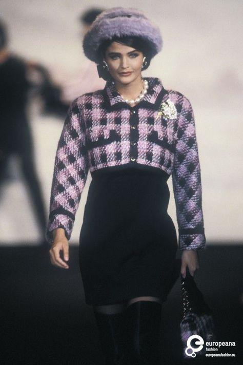 Helena Christensen for Chanel Haute Couture Fall/Winter 1990