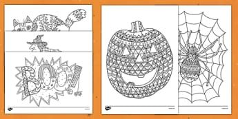 Ks2 Halloween Festivals And Celebrations Ks2 Topics Mindfulness Colouring Mindfulness Colouring Sheets Coloring Sheets