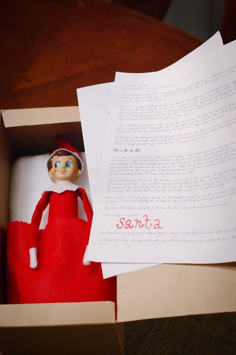 A new take on Jesus and Santa.  If we ever do Elf on the Shelf, this is a great way to introduce him!
