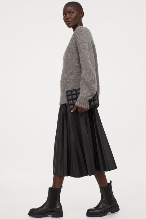 HM Faux Leather Skirt