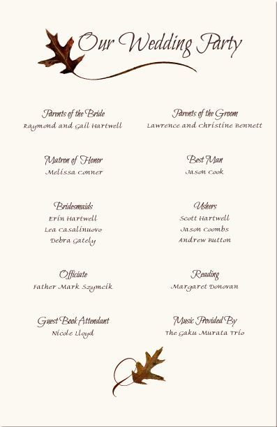 Wedding Program Templates Free Wording-Program Samples - programs templates free