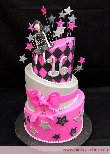 16th birthday cake Cake Cravings by Danielle Pinterest 16th