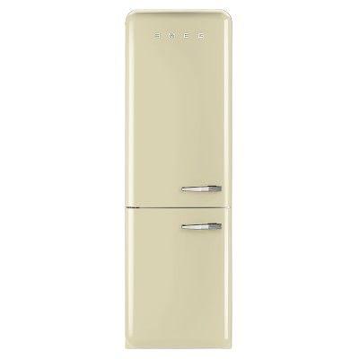 Smeg Refrigerator With Auto Freezer Cream Left Two Door Refrigerator Smeg Buying Kitchen Appliances