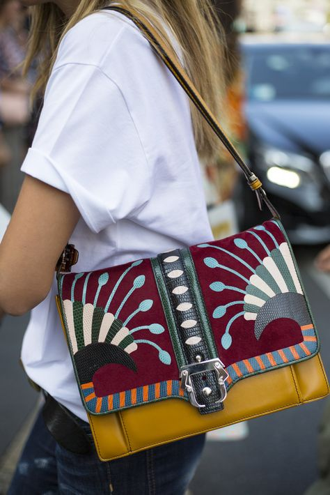 Street style #details at #MFW - More fashion week action on The Hub