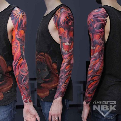 Tattoo artist Dmitriy Naboka, color authors style new school tattoo