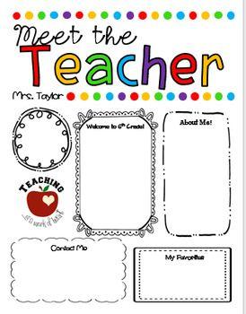 Editable Meet The Teacher Letter Template Open House Letter Meet The Teacher Meet The Teacher Template Teacher Templates