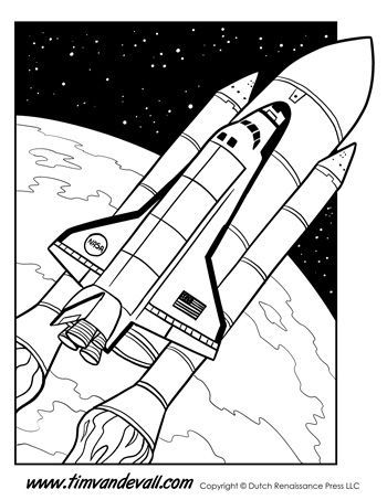 Space Shuttle Facts For Kids Space Coloring Pages Planet For