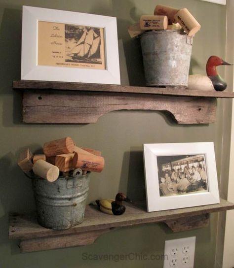 DIY Easiest Pallet Project Ever ! Rustic Reclaimed Wood Shelves !