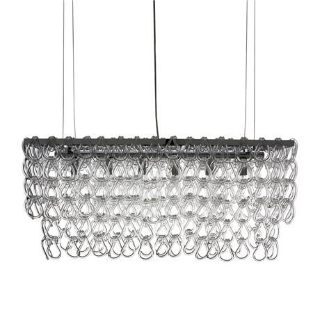 Glass Chain Island Chandelier Found Another Version On Shadesoflight 995 Phase 1 Dining Room Pinterest Chandeliers And Foyers