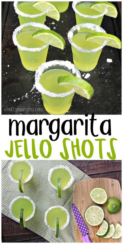 Margarita jello shots recipe! Fun alcoholic jello shot recipe for the summer time. Green Lime flavored so cute for a party!