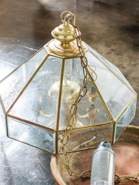Old light into a terrarium