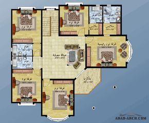 تصميم لمنزل طابقين Arab Arch House Layout Plans Home Map Design New House Plans