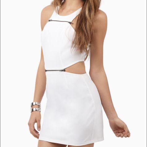 White Zippered Dress