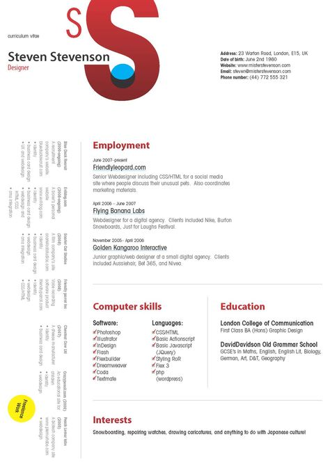 Visual Artist Resume (resumecompanion) Resume Samples Across - senior web developer resume
