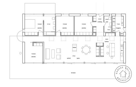 Arkitektens opgraderede typehus Interiors, Family houses and House - plan maison 170 m2 plain pied