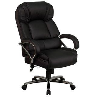 Big Amp Tall 500 Lb Rated Black Leathersoft Ergonomic Office Chair W Chrome Base Black Lancas Swivel Office Chair Ergonomic Office Chair Flash Furniture