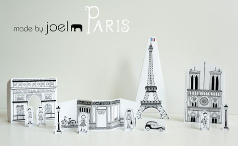 I absolutely love this free printable city of Paris...It's for kids, but I'm thinking of printing it out for myself!