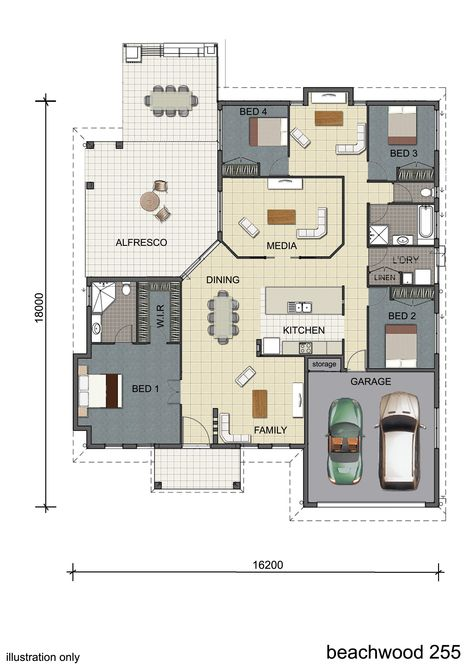 Photo Gallery Previous Grady Townsville Display Homes With Images Single Storey House Plans House Plans Small House Plans
