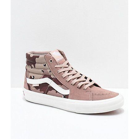 Vans Sk8-Hi Pro Desert Camo Skate Shoes