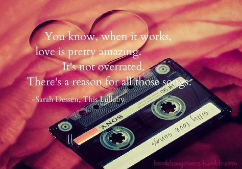 You know, when it works,   love is pretty amazing.   It's not overrated.   There's a reason for all those songs. <3