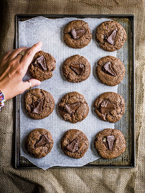No one will be able to resist these double chocolate Toblerone cookies. They're easy to make but make a great special treat.