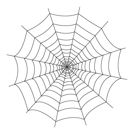 spider web coloring page # 1