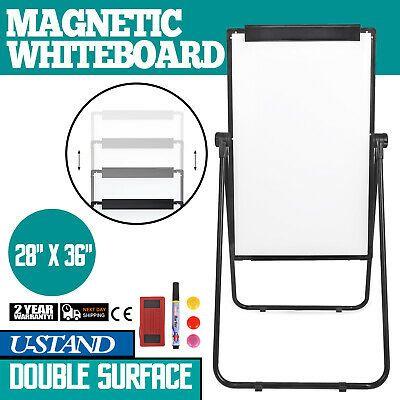 "36/"" X 24/"" Telescopic Magnetic White Board Dry Erase Tripod Whiteboard Flipchart"