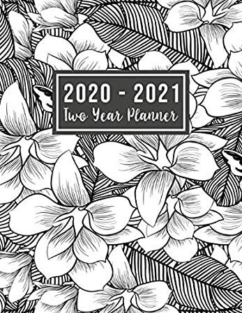 Download 2020 2021 Two Year Planner 2020 2021 See It Bigger Planner Flower Watercolor Cover 2