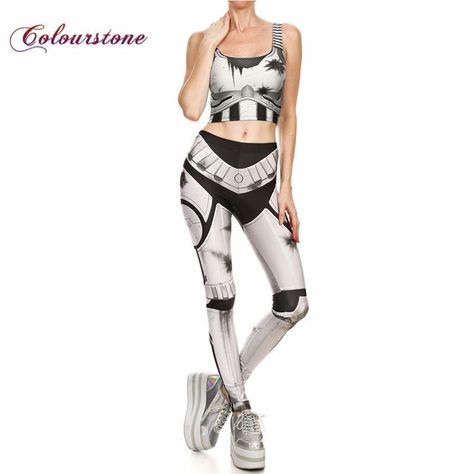 b539cbd2af885 COLOURSTONE 3D Printed Dead-Pool White Women Workout Leggings Sets ...
