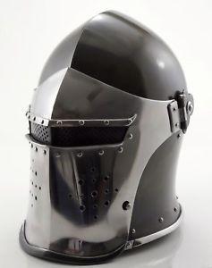 Medieval Barbuta Helmet Knight Templar Crusader Armour Helmet+exp ship.