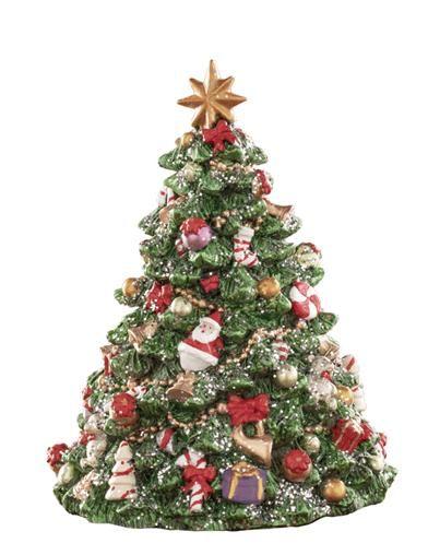 Glittering Christmas Tree Revolving Music Box Full Christmas Tree Blue Christmas Decor Christmas Themes Decorations