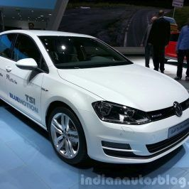 Vw Golf Tsi Bluemotion Front Three Quarter At The 2015 Geneva