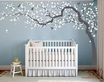 Pin By Lisart On Bebes Chambres Maison Tree Decal Nursery Nursery Wall Decals Vinyl Tree Wall Decal