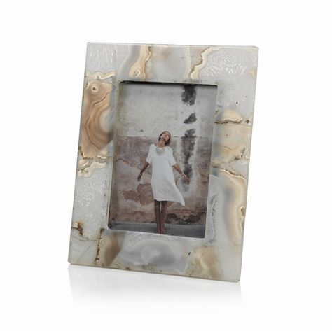 Preto Agate Photo Frame Small Dimensions 9 X 7 Fits A 4 X 6