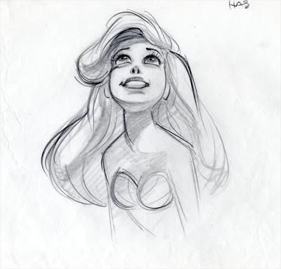 Disegni A Matita Disney Ariel