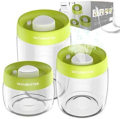 Amazon Com Glass Food Storage Container Set With Vacuum Sealed Airtight Lid Vacu Glass Food Storage Containers Food Storage Airtight Food Storage Containers