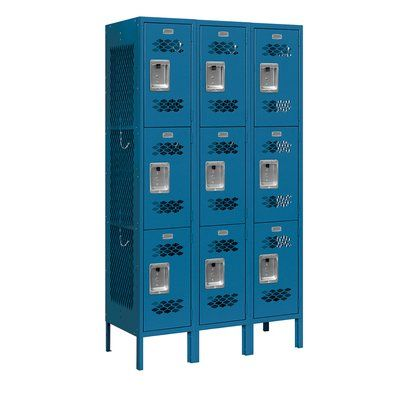 Salsbury Industries 3 Tier 3 Wide Gym Locker In 2020 Metal Lockers Lockers Locker Designs