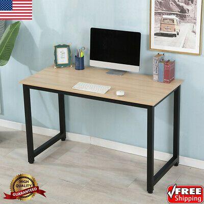Sponsored Ebay White Computer Desk Table Pc Laptop Workstation Study Table For Ho Modern Home Office Desk Computer Desks For Home Home Office Furniture Desk