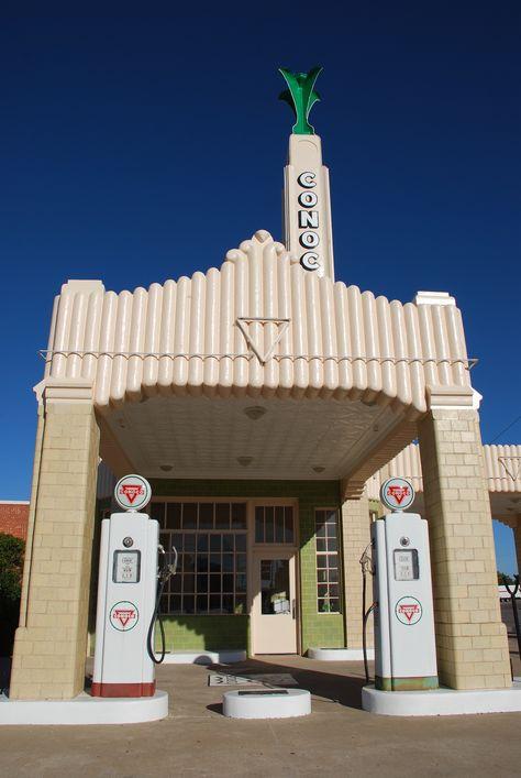 """ U-Drop Inn Tower Conoco "" in Shamrock Texas  "" Route 66 on My Mind ""…"