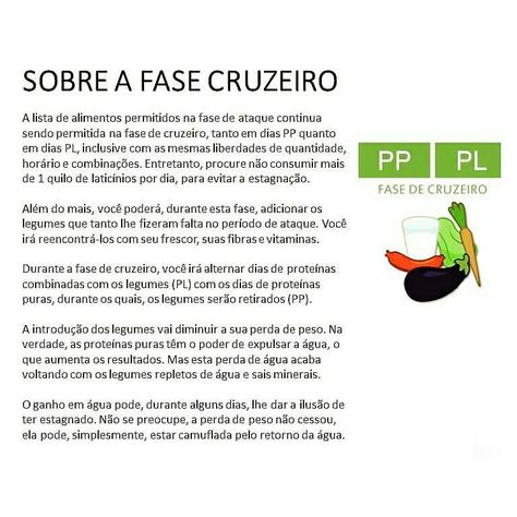 Dica Fase Cruzeiro Dukan